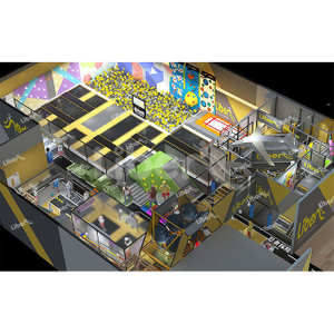Liben New Custom Indoor Trampoline Fun Park For Show
